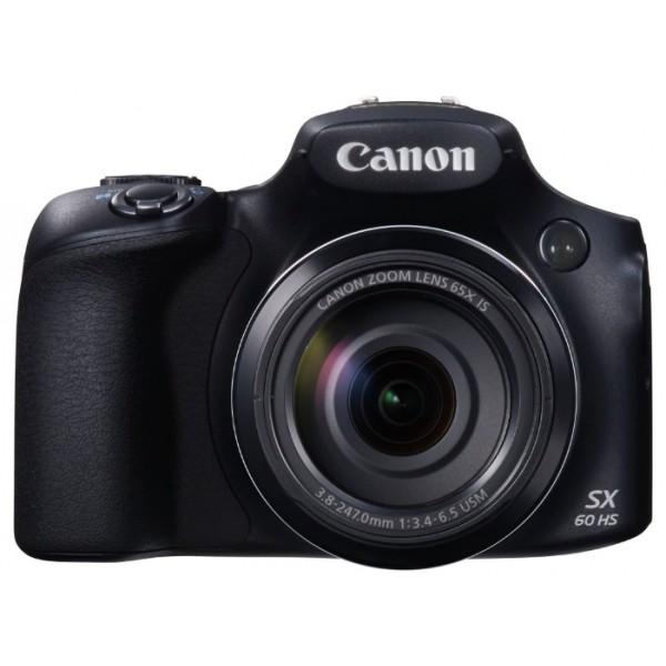 Компактный фотоаппарат Canon PowerShot SX60 HSфотокамера с суперзумом, матрица 16.8 МП (1/2.3), съемка видео Full HD, оптический зум 65x, поворотный экран 3, Wi-Fi, вес камеры 650 г<br><br>Вес кг: 0.70000000