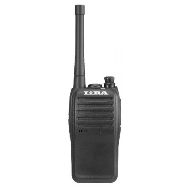 Радиостанция Lira P-510 HПереносная радиостанция LIRA P-510 H подходит для эксплуатации любителями и профессионалами. Выходная мощность равна 7 Вт, но имеется возможность регулировки и уменьшения при необходимости этого показателя. Программируется устройство в высокочастотном диапазоне UHF 400-470 МГц. Можно эксплуатировать рацию на безлицензионных каналах LDP и PMR, а значит, не только на территории России, но и за её пределами.<br><br>Рация имеет компактные размеры и небольшой вес (около 240 гр.). Благодаря короткой антенне, устройство удобно носить под одеждой. Корпус изготовлен из высокопрочного пластика. Радиостанция имеет степень защиты IP54 и соответствует военному стандарту MIL-STD-810. Это в сочетании с отсутствием дисплея позволяет использовать рацию при сложных погодных условиях, а также при низких и высоких температурах.<br><br>Литий-ионный аккумулятор на 2500 мАч обеспечивает работу радиостанции. Заряда батареи хватает на длительное время. Кроме этого, энергосберегающий режим позволяет сократить расход энергии. Для экономии заряда в случае отсутствия необходимости осуществлять передачу данных на дальние расстояния можно уменьшить выходную мощность. Устройство оповещает о низком заряде батареи предупреждающим сигналом.<br><br>Программируются каналы и все настройки через компьютер. Кнопки, расположенные сбоку, можно настроить специально для быстрого доступа к функциям, которые используются чаще всего, что очень удобно при эксплуатации рации в полевых условиях. Радиостанция LIRA P-510 H, несмотря на компактность, отличается широким функционалом.<br><br>9-уровневый шумоподавитель предотвращает возникновение посторонних шумов и звуков, поэтому передаваемые данные не искажаются. Наличие светодиодного фонарика смогут оценить пользователи в ночное время суток.<br><br>Вес кг: 0.30000000