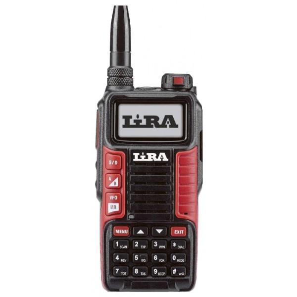 Радиостанция Lira P-580 UVLIRA P-580 UV – портативная аналоговая радиостанция компактных размеров. Главная особенность устройства заключается в том, что оно может работать как и в низких частотных диапазонах VHF 146-174 МГц, так и в высоких частотах UHF 403-470 МГц. Также устройство имеет FM-приемник, который позволяет прослушивать станции на частоте 87-108 МГц.<br><br>Радиостанция имеет 199 канала с разносом 25 кГц/12,5 кГц, которые можно настраивать через компьютер. Одновременно устройство может использоваться в двух активных диапазонах. Рация оснащена небольшой, но прочной антенной, которая обеспечивает стабильный прием.<br><br>Устройство работает от аккумулятора емкостью 2400 мАч, поэтому длительное время может эксплуатироваться без подзарядки. К тому же рация имеет режим энергосбережения. На корпусе имеется индикаторная кнопка, что загорается при разрядке батареи и сигнализирует о необходимости подключения зарядного устройства. Также рация имеет встроенный фонарик.<br><br>Рация LIRA P-580 UV имеет прочный корпус в черно-красном цветовом решении. Полимер устойчив к механическим повреждениям, поэтому устройство не боится падений и ударов. Радиостанция хорошо защищена от воздействия окружающей среды, поэтому может использоваться в широком температурном диапазоне от -20°С до +60°С. Может эксплуатироваться внутри помещений и на улице.<br><br>Управление рацией осуществляется при помощи кнопок, изготовленных из резины, что расположены на передней панели и сбоку. Интуитивно понятное управление не вызывает трудностей при эксплуатации. Дисплей устройства имеет подсветку, контраст которой можно отрегулировать в зависимости от освещения окружающей среды.<br><br>Функция шумоподавления и громкий динамик обеспечивают качественный и чистый звук, а чувствительный приемник позволяет принимать и отправлять сигналы в широком диапазоне частот. Устройство оснащено ручной и автоматической блокировкой.<br><br>Вес кг: 0.35000000