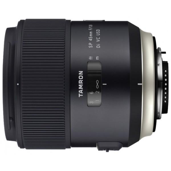 Объектив Tamron SP AF 45mm f/1.8 Di VC USD Nikon Fширокоугольный объектив с постоянным ФР, крепление Nikon F, встроенный мотор, встроенный стабилизатор изображения, автоматическая фокусировка, минимальное расстояние фокусировки 0.29 м, размеры (DхL): 80.4x89.2 мм, вес: 520 г<br><br>Вес кг: 0.70000000