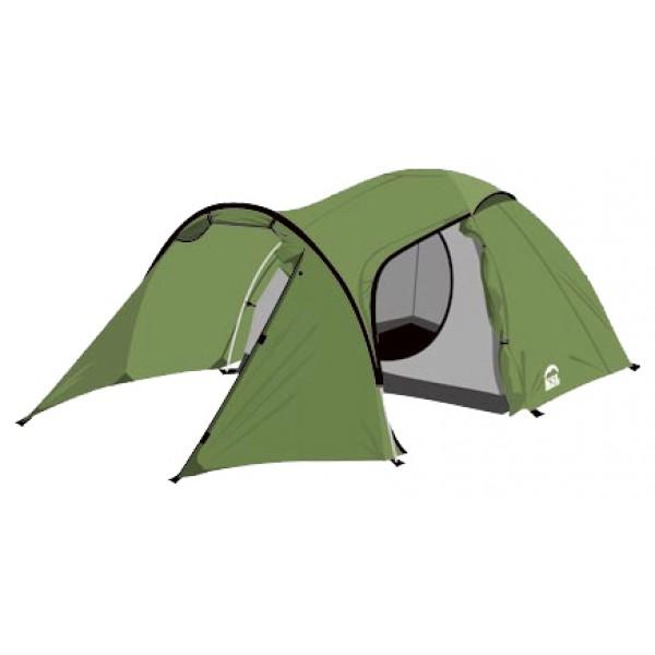 Палатка KSL Cherokee 3 (зеленая)трекинговая палатка, 3-местная, внутренний каркас, алюминиевые дуги, 2 входа / одна комната, высокая водостойкость дна, вес: 4.85 кг<br><br>Вес кг: 4.85000000
