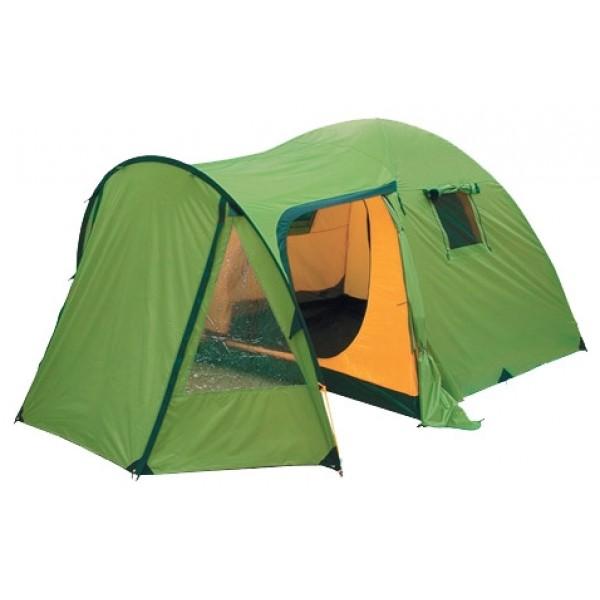 Палатка KSL Campo Plus 4кемпинговая палатка, 4-местная, внутренний каркас, дуги из стеклопластика, 3 входа / одна комната, высокая водостойкость дна, вес: 10.4 кг<br><br>Вес кг: 10.40000000