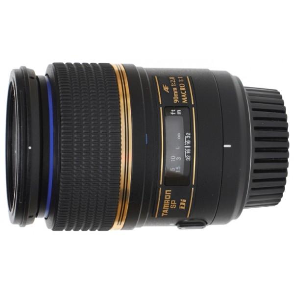Объектив Tamron SP AF 90mm F/2.8 Di MACRO 1:1 Canon EFГарантия 5 лет от Tamron. <br>макрообъектив с постоянным ФР, крепление Canon EF и EF-S, автоматическая фокусировка, минимальное расстояние фокусировки 0.29 м, размеры (DхL): 71.5x97 мм, вес: 405 г<br>