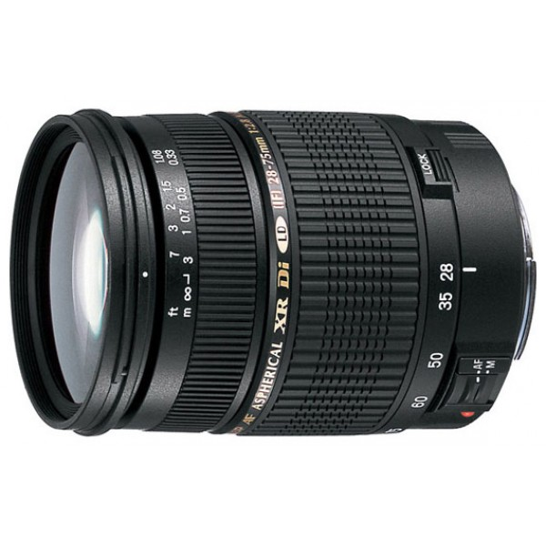 Объектив Tamron SP AF 28-75mm F/2.8 XR Di LD Aspherical (IF) Nikon FГарантия 5 лет от Tamron. <br>стандартный Zoom-объектив, крепление Nikon F, без встроенного мотора, автоматическая фокусировка, минимальное расстояние фокусировки 0.33 м, размеры (DхL): 73x92 мм, вес: 510 г<br>