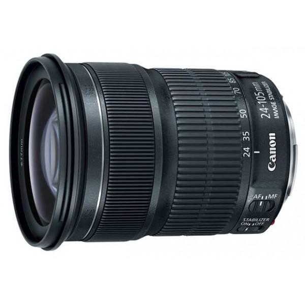 Объектив Canon EF 24-105mm f/3.5-5.6 IS STMстандартный Zoom-объектив, адаптирован для видеосъемки, крепление Canon EF и EF-S, встроенный стабилизатор изображения, автоматическая фокусировка, минимальное расстояние фокусировки 0.4 м, размеры (DхL): 83.4x104 мм, вес: 525 г<br><br>Вес кг: 0.70000000