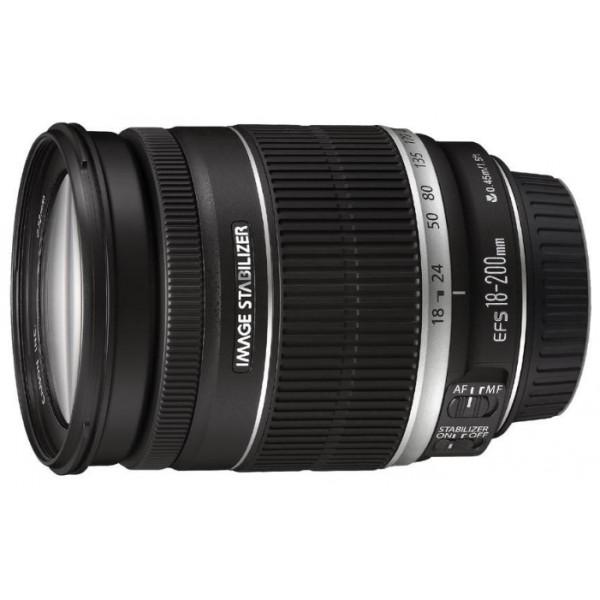 Объектив Canon EF-S 18-200mm f/3.5-5.6 ISстандартный Zoom-объектив, крепление Canon EF-S, для неполнокадровых фотоаппаратов, встроенный стабилизатор изображения, автоматическая фокусировка, минимальное расстояние фокусировки 0.45 м, размеры (DхL): 79x102 мм, вес: 600 г<br><br>Вес кг: 0.80000000