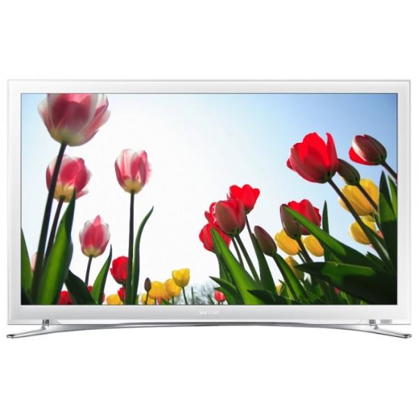 Телевизор Samsung UE22H5610ЖК-телевизор, LED-подсветка, диагональ 22 (56 см), Smart TV (доступ в интернет), поддержка 1080p Full HD, разрешение 1920x1080 (16:9), прием цифрового телевидения (DVB-T2), просмотр видео с USB-накопителей, подключение к локальной сети Wi-Fi, подключение к проводной локальной сети<br><br>Вес кг: 3.80000000