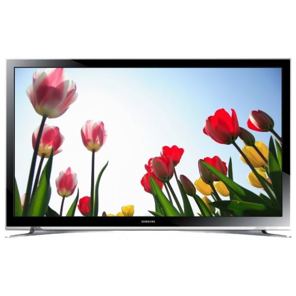 Телевизор Samsung UE22H5600AKЖК-телевизор, LED-подсветка, диагональ 22 (56 см), Smart TV (доступ в интернет), поддержка 1080p Full HD, разрешение 1920x1080 (16:9), прием цифрового телевидения (DVB-T2), просмотр видео с USB-накопителей, подключение к локальной сети Wi-Fi, подключение к проводной локальной сети<br><br>Вес кг: 3.80000000