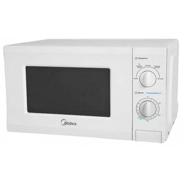 Микроволновая печь соло Midea MM720CPIотдельно стоящая микроволновая печь, объем 20 л, мощность 700 Вт, механическое управление, поворотные переключатели<br><br>Вес кг: 10.20000000