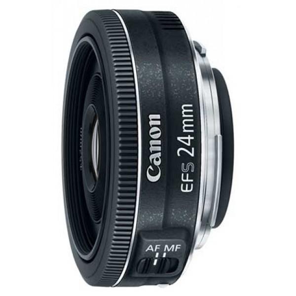 Объектив Canon EF-S 24mm f/2.8 STMширокоугольный объектив с постоянным ФР, крепление Canon EF-S, для неполнокадровых фотоаппаратов, автоматическая фокусировка, минимальное расстояние фокусировки 0.16 м, размеры (DхL): 68.2x22.8 мм, вес: 125 г<br><br>Вес кг: 0.30000000