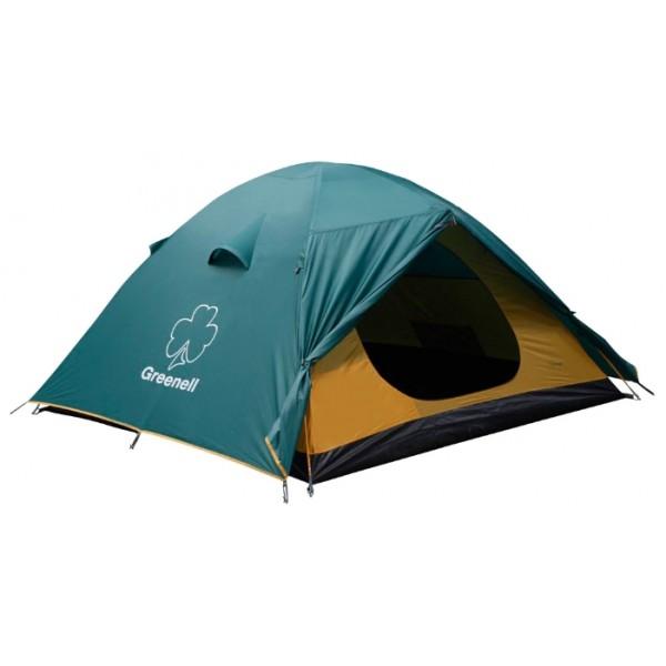 Палатка Greenell Гори 4 трекинговаятрекинговая палатка, 4-местная, внутренний каркас, дуги из стеклопластика, 2 входа / одна комната, высокая водостойкость тента, вес: 5.3 кг<br><br>Вес кг: 5.20000000