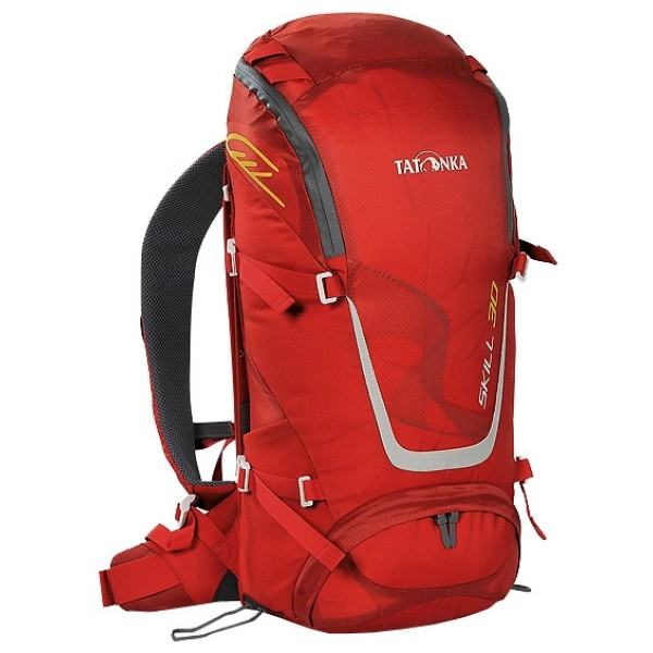 Рюкзак Tatonka Skill 30 redЛегкий спортивный рюкзак с фронтальной загрузкой. Новая система подвески X Vent Zero обеспечивает отличную вентиляцию спины, фиксацию и распределение груза. Рюкзак имеет хорошее оснащение при весе меньше 1 кг.<br><br>Вес кг: 1.00000000