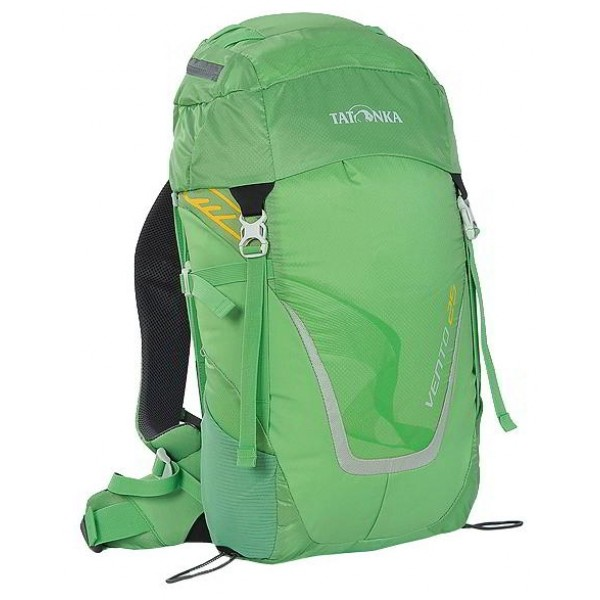 Рюкзак Tatonka Vento 25 bambooУниверсальный спортивный рюкзак с новой системой подвески X Vent Zero. Благодаря крестообразно расположенному каркасу из стекловолокна и минимальному контакту со спиной система объединяет оптимальный контроль нагрузки с исключительной вентиляцией и минимальным весом. При весе всего 960 г. рукзак обладает вместительным внутренним отделением и хорошим оснащением.<br><br><br>Подвеска X Vent Zero.<br><br>Верхнее отделение с держателем для ключей и дождевым чехлом.<br><br>Эргономичные лямки с эластичным нагрудным ремнем.<br><br>Эластичные боковые карманы.<br><br>Держатели походных палок.<br><br>Боковые стяжки.<br><br>Ручка для переноски.<br><br>Вес кг: 1.00000000