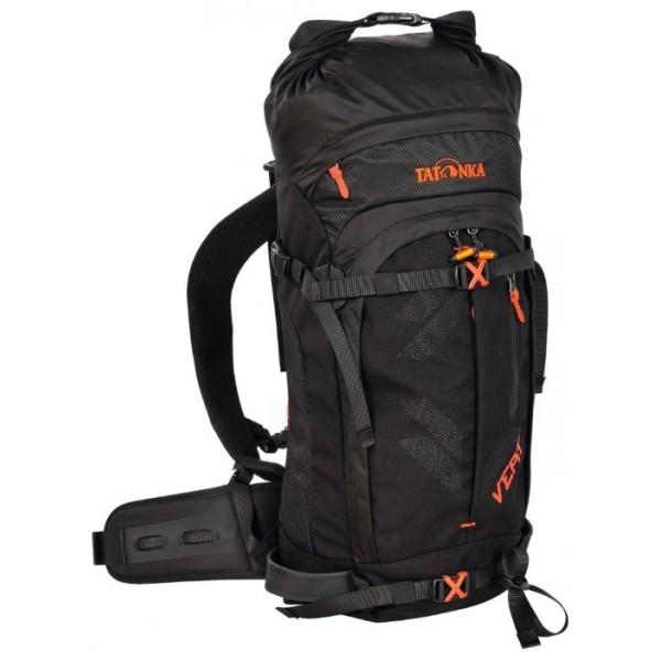 Рюкзак Tatonka Vert 25 EXPОснащенный скатывающейся застежкой рюкзак Vert EXP разработан специально для любителей лыжных походов. В рюкзаке предусмотрена возможность переднего или бокового крелпения лыж, имеется съемный набедренный ремень, и отделение для питьевой системы. В рюкзаке есть карманы для лавинного зонда, лопатки, аптечки и лыжных очков. Внутри рюкзака находится водонепроницаемый гермомешок, который легко вынимается.<br><br>Подвеска Vent Comfort<br>Встроенный вынимающийся водонепроницаемый чехол <br>Удобные плечевые пемни.<br>Съемный набедренный ремень<br>Боковые стяжки<br>Регулируемый держатель для лыж<br>Карман для очков с доступом снаружи<br>Отделение для питьевой системы.<br><br>Вес кг: 1.30000000