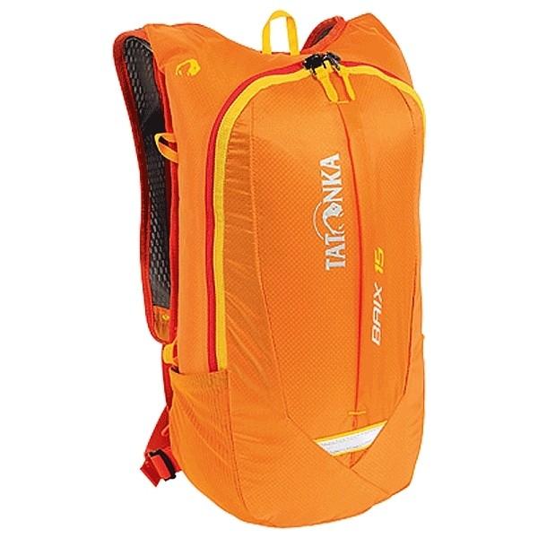 Рюкзак Tatonka Baix 15 orangeЛегкий динамичный рюкзак для видов активных видов спорта: бега, велогонок. Легкий и удобный. Минимальный вес и небольшой объем делают рюкзак практически не ощущается на себе во время движения. Спинка покрыта мягкой вентиляционной сеткой. Рюкзак совместим спитьевой системой. На лицевой части удобный кармашек.<br><br>Вес кг: 0.50000000
