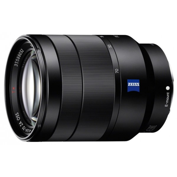 Объектив Sony Carl Zeiss Vario-Tessar T* 24-70mm f/4 ZA OSS (SEL-2470Z)стандартный Zoom-объектив, крепление Sony E, встроенный стабилизатор изображения, ручная фокусировка, минимальное расстояние фокусировки 0.4 м, размеры (DхL): 73x94.5 мм, вес: 426 г<br><br>Вес кг: 0.50000000