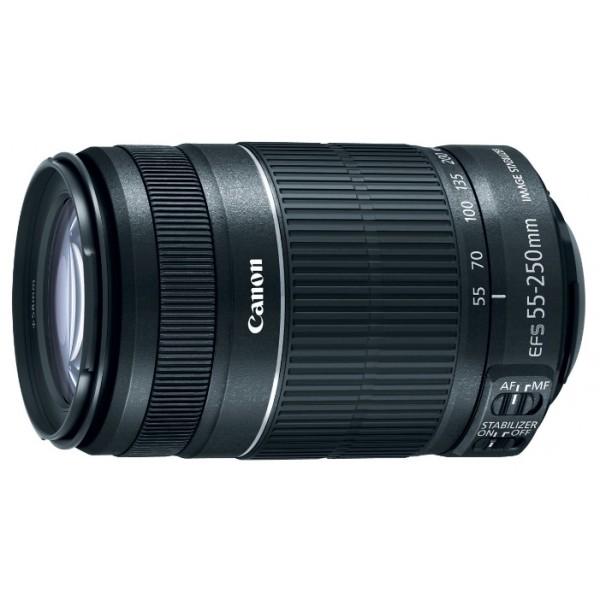 Объектив Canon EF-S 55-250mm f/4-5.6 IS STMZoom-телеобъектив, адаптирован для видеосъемки, крепление Canon EF-S, для неполнокадровых фотоаппаратов, встроенный стабилизатор изображения, автоматическая фокусировка, минимальное расстояние фокусировки 0.85 м<br><br>Вес кг: 0.40000000