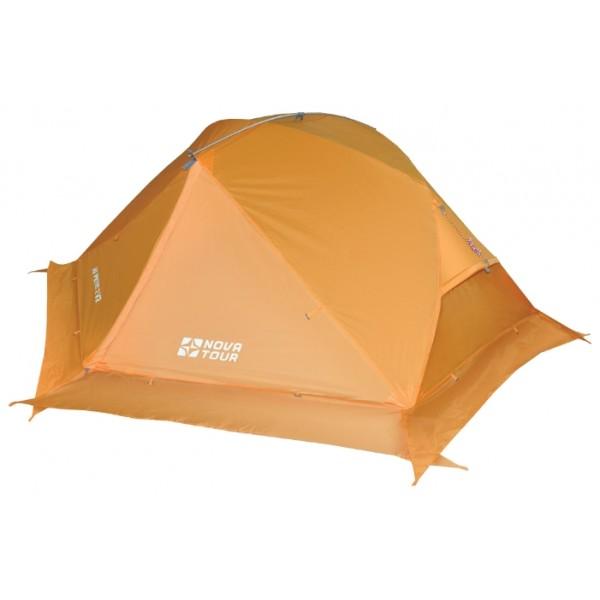 Палатка Nova Tour Ай Петри 2 V2Двухместная палатка для горного туризма с повышенной влагостойкостью тента и дна. Палатка специально разработана для горного и пешеходного туризма. Она легкая, износостойкая. Для дополнительной термоизоляции используется юбка. Юбку также можно поднять в теплую погоду. Материалы тента и дна палатки защищены от влаги сильнее, чем обычная туристическая палатка. В комплекте колышки из алюминия.<br><br>Отличия от первой версии палатки: Тент больше не из силиконовой ткани. Ткань тента - прочная Poly Taffeta 210T R/S PU 7000 Усовершенствованная система вентиляции. Удобные Q-образные входы<br><br>Внимание! С 2016 года добавлено еще одно изменение в палатке. Верхняя короткая дуга, которая распирает тент, теперь находится под тентом, внутри палатки. В настоящее время в продаже есть оба варианта палатки.<br><br>Вес кг: 3.10000000