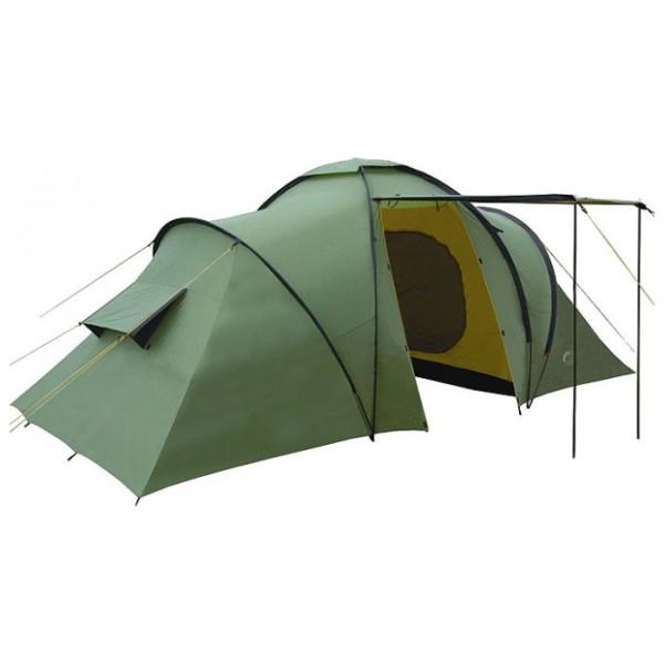 Палатка Indiana Sierra 6кемпинговая палатка, 6-местная, внешний каркас, дуги из стеклопластика, 2 входа / 2 комнаты, высокая водостойкость, вес: 10.9 кг<br><br>Вес кг: 10.90000000