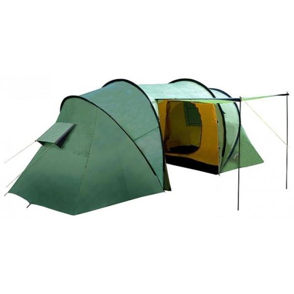 Палатка Indiana Twin 4кемпинговая палатка, 4-местная, внешний каркас, дуги из стеклопластика, 2 входа / 2 комнаты, высокая водостойкость, вес: 10.3 кг<br><br>Вес кг: 10.30000000
