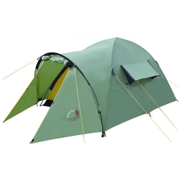 Палатка Indiana Hogar 4трекинговая палатка, 4-местная, внутренний каркас, дуги из стеклопластика, один вход / одна комната, высокая водостойкость, вес: 4.7 кг<br><br>Вес кг: 4.70000000