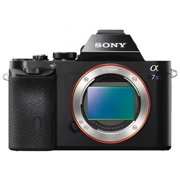 Фотоаппарат Sony Alpha ILCE-7S Body со сменной оптикойфотокамера с поддержкой сменных объективов, байонет Sony E, без объектива в комплекте, матрица 12.4 МП (Full frame), съемка видео Full HD, поворотный экран 3, Wi-Fi<br><br>Вес кг: 0.50000000