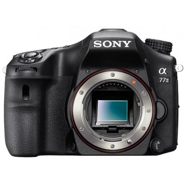 Фотоаппарат зеркальный Sony Alpha ILCA-77M2 Bodyфотокамера с поддержкой сменных объективов, байонет Minolta A, без объектива в комплекте, матрица 24.7 МП (APS-C), съемка видео Full HD, поворотный экран 3, Wi-Fi<br><br>Вес кг: 0.70000000