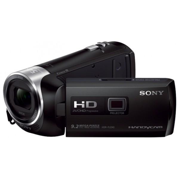 Видеокамера Sony HDR-PJ240Eвидеокамера с 27x зумом, запись видео Full HD 1080p на карты памяти, матрица 5.02 МП (1/5.8), карты памяти SD, MS, электронный стабилизатор изображения, вес: 210 г<br><br>Вес кг: 0.30000000