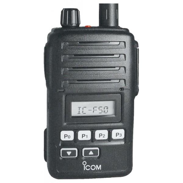 Радиостанция Icom IC-F50рация VHF, мощность передатчика 5 Вт, питание Li-Ion-аккумулятор, вес 280 г, количество каналов 128, кодирование CTCSS, DCS, DTMF, подключение гарнитуры<br><br>Вес кг: 0.40000000