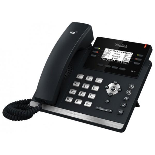 IP-телефон Yealink SIP-T41PYealink SIP-T41P - младшая модель новой ультраэлегантной линейки IP-телефонов от Yealink. Аппарат во многом схож с моделью Yealink SIP-T42G, однако является более бюджетной моделью за счет отсутствия гигабитного порта Ethernet. Продолжая традиции современной корпоративной линейки, новая модель отличается ультраэлегантным бизнес-дизайном, оснащена комплексом необходимых функций и продвинутыми техническими характеристиками. На задней стороне телефона предусмотрен специальный разъем EHS для подключения Yealink EHS36. Этот адаптер предназначен для подключения к телефону беспроводных гарнитур Jabra, Plantronics и Sennheiser. Благодаря же реализации нескольких страниц экранного меню, значения программируемых кнопок подписываются непосредственно на экране телефона, избавляя пользователей от бумажек на корпусе телефона, которые необходимо заполнять вручную.<br>