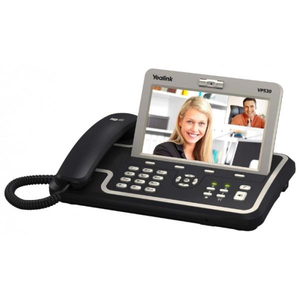 """IP-телефон Yealink VP530Yealink VP530 - это мультимедийный IP-телефон с поддержкой видеозвонков. Телефон поддерживает 4 учетные записи с независимой настройкой. Большой цветной LCD-дисплей 7"""" c функцией TouchScreen поможет сделать общение на работе или дома красочным и приятными. Двухъядерный чипсет DaVinci от компании Texas Instruments обеспечивает быстродействие и удобство в использовании телефона. VP530 обладает высококачественной передачей голоса и расширенным звуковым диапазоном динамиков, что делает высоким качество общения. Отличительной особенностью модели является возможность создавать 3-х стороннюю видеоконференцию средствами самого телефона, что позволит в некоторых проектах не использовать сервер видеоконференций и существенно сократить бюджет решения.<br><br>Вес кг: 1.30000000"""