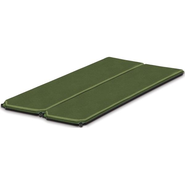 Коврик Alexika Alpine Double самонадувающийсяЛучший выбор для семейного отдыха: двойной коврик с велюровым покрытием верха и высокопрочной тканью дна. Липучка Velcro позволяет использовать коврики как один двуспальный матрац или отдельно друг от друга.<br><br>Вес кг: 2.80000000