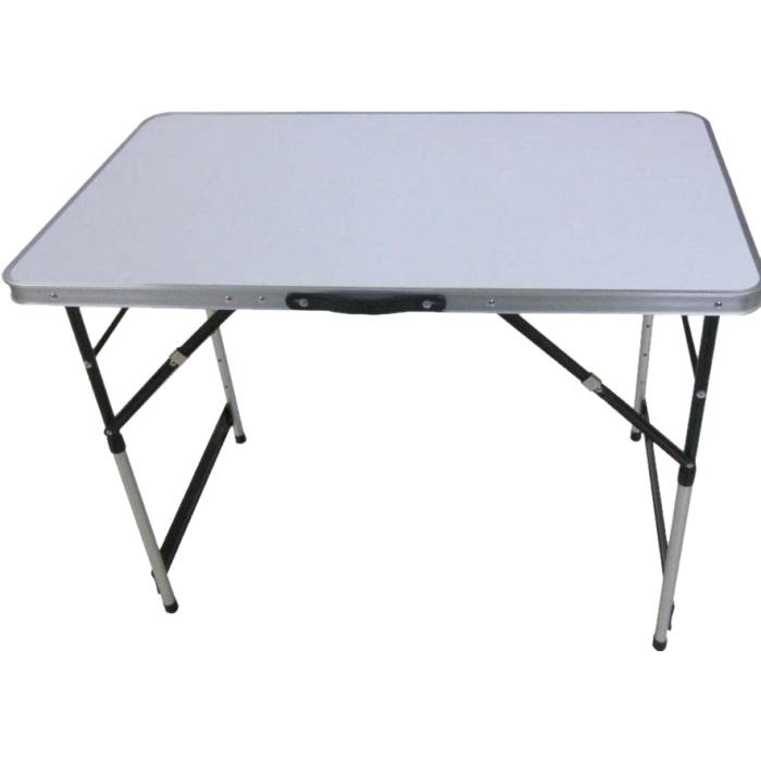Стол Tramp TRF-006 складнойУниверсальный стол для загородного отдыха Tramp TRF-006. Столешница имеет белый цвет и выполнена из МДФ 2,8 мм. Высота стола регулируется и имеет 4 положения: 73, 80, 87 и 94 см.<br><br>Вес кг: 3.90000000