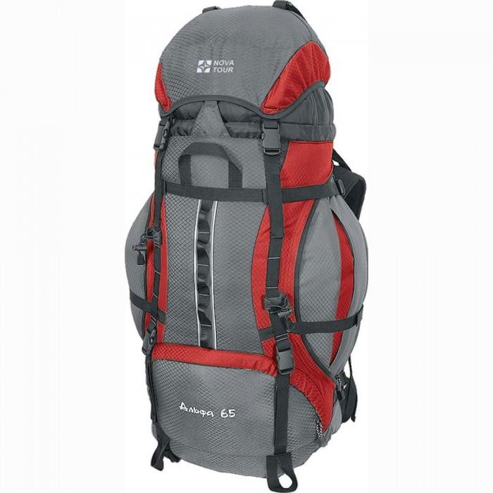 Рюкзак Nova Tour Альфа 65 v2 красный/серыйНадежный в походах и путешествиях. Прочность конструкции проверена временем. Модель со складными карманами по бокам и плавающим клапаном, позволяющим изменять объем рюкзака, имеет все необходимое для навески дополнительного снаряжения. Гермочехол упакован в специальном кармане на дне рюкзака.<br><br>Вес кг: 2.35000000