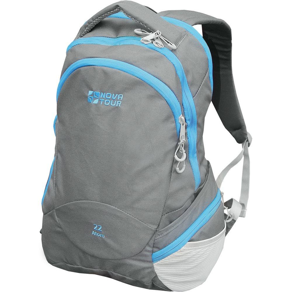 Рюкзак Nova Tour Атом 22В рюкзаке предусмотрены специальное отделение для ноутбука, боковой карман с тремя отделениями, органайзер, карабин для ключей<br><br>Вес кг: 0.80000000