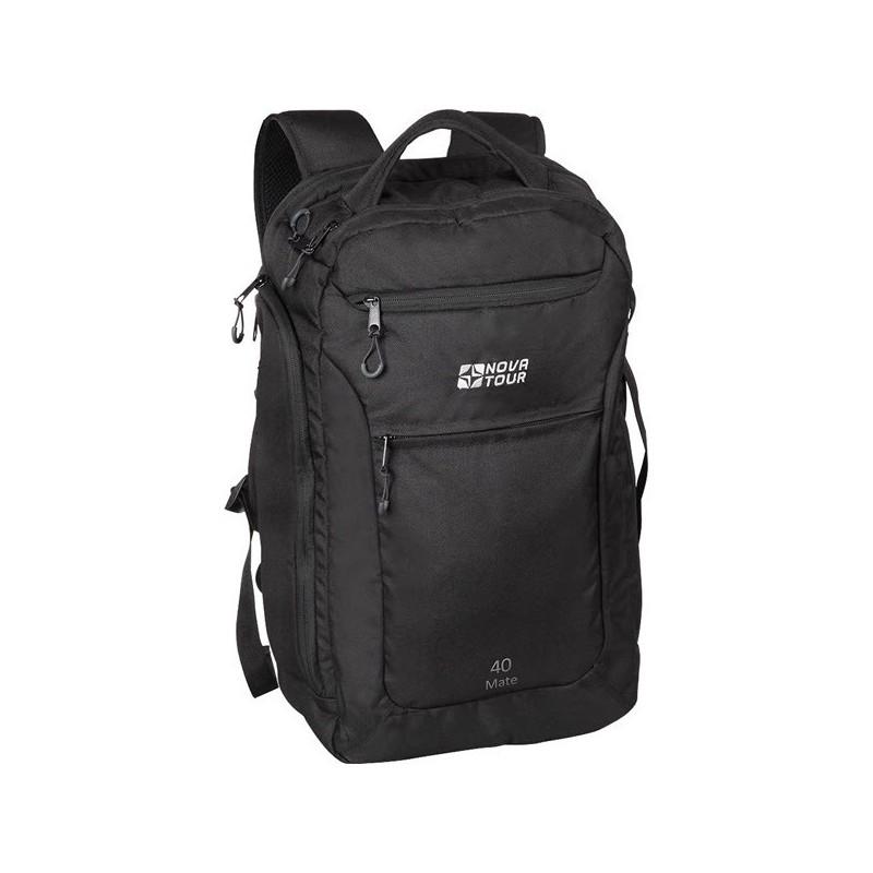Рюкзак Nova Tour Мэйт 40 черныйКомфортный рюкзак для современных и деловых людей, а также студентов и школьников. Вместительный имеет отделение под ноутбук, органайзер и карман для документов.<br><br>Вес кг: 1.15000000