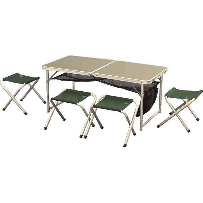 Набор мебели Greenell Ftfs-1Стол и 4 табуретки, для хорошо организованного отдыха на природе. Чехол для хранения и переноски. Табуретки убираются внутрь. Без влагозащиты.<br><br>Вес кг: 7.60000000