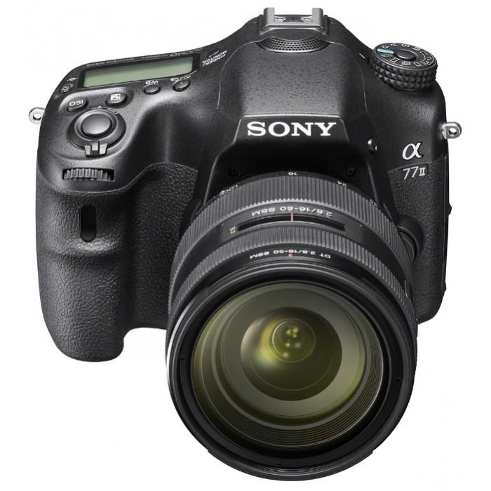 Фотоаппарат Sony Alpha ILCA-77M2 Kit 16-50 зеркальныйфотокамера с поддержкой сменных объективов, байонет Minolta A, объектив в комплекте, модель уточняйте у продавца, матрица 24.7 МП (APS-C), съемка видео Full HD, поворотный экран 3, Wi-Fi, вес камеры без объектива 647 г<br><br>Вес кг: 0.70000000