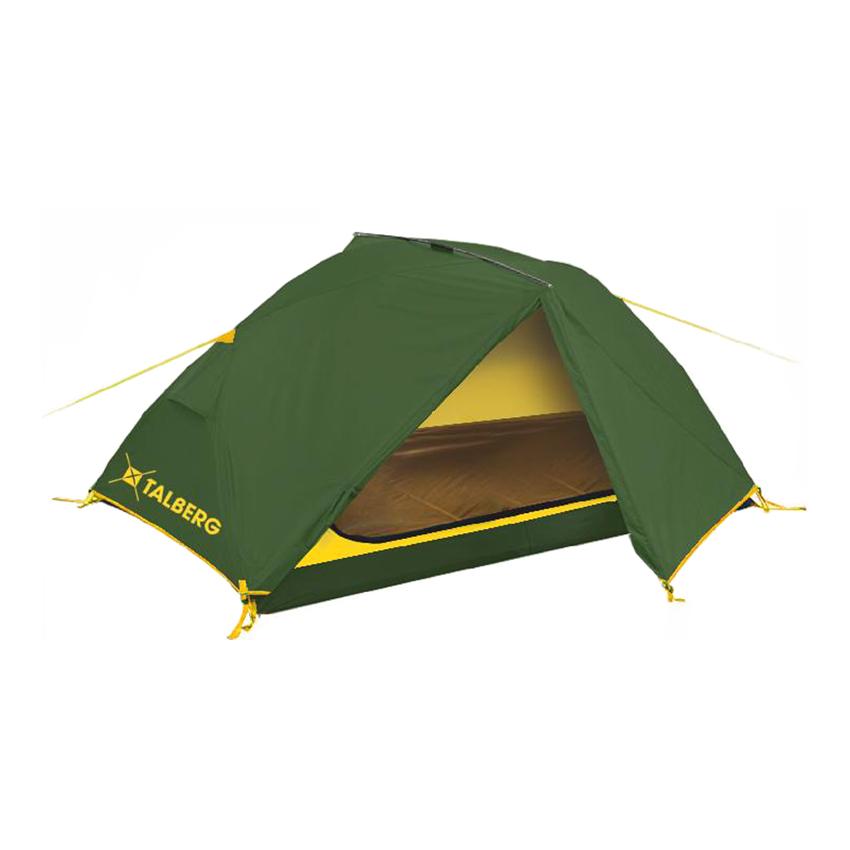 Палатка Talberg Borneo 2Легкая двухслойная двухместная палатка с дополнительной верхней выносной дугой, увеличивающей объем тамбуров.<br><br>Палатки Talberg Туристической линии были специально разработаны для походов в весеннее, летнее и осеннее время. В палатках этой серии используются материалы и конструкции, которые позволяют комфортно провести теплую летнюю ночь или переждать серьезную непогоду с сильным ветром и осадками.<br><br>Оптимальная комбинация материалов по соотношению вес-прочность-надежность.<br>Использование полиэстера позволяет сделать тент палатки прочным, легким, непроницаемым для ветра и не впитывающим влагу.<br>Высококачественные дуги из фибергласа не имеют остаточных деформаций и в состоянии выдержать сильные ветры и непогоду.<br>Два входа обеспечивают превосходную вентиляцию и комфортный сон в теплое время года.<br>Палатка оборудована высококачественной противомоскитной сеткой, способной защитить даже от самой мелкой мошки.<br>Все швы палатки проклеены специальной термоусадочной лентой, которая надежно защищает палатку от протеканий.<br>Внутри палатки предусмотрены карманы для мелочей и полка под потолком для фонарика или каких-либо вещей.<br>Ремнабор в комплекте.<br><br>Вес кг: 3.00000000
