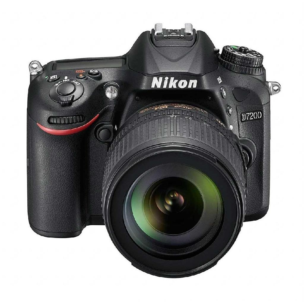Фотоаппарат Nikon D7200 kit 18-55 A-fp DX зеркальныйпродвинутая зеркальная фотокамера, байонет Nikon F, объектив в комплекте, модель уточняйте у продавца, матрица 24.72 МП (APS-C), съемка видео Full HD, экран 3.2, Wi-Fi, вес камеры без объектива 765 г<br><br>Вес кг: 0.70000000