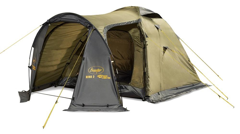 Палатка Canadian Camper Rino 3 Forest трекинговаяRINO - одна из самых популярных туристических палаток. В отличии от предыдущих моделей, более просторный тамбур снабжен двумя входами. Два отдельных входа есть и у внутренней палатки.<br><br>Противомоскитные сетки вентиляционных окон и дверей не позволят насекомым испортить Вам отдых.<br><br>Вес кг: 4.90000000