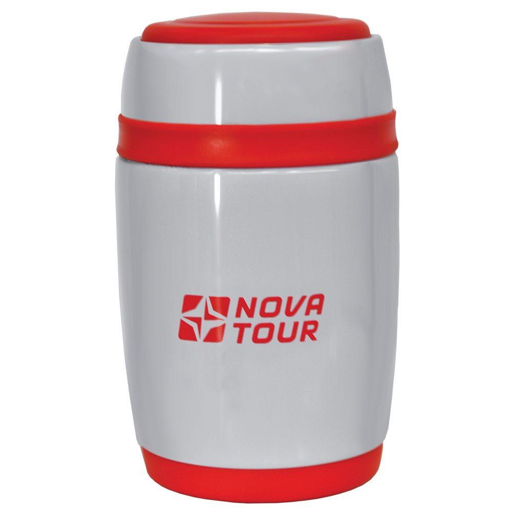 Термос Nova Tour Ланч 580 для едыКомпактный термос, ёмкостью 0,58л, выполненный из пищевой нержавеющей стали, с поворотным клапаном (Достаточно повернуть пробку на пол-оборота чтобы налить содержимое из термоса), который дает возможность при наливании не открывать термос целиком для меньшего охлаждения содержимого. Широкое горло дает возможность использовать термос для первых и вторых блюд.<br><br>Вес кг: 0.50000000