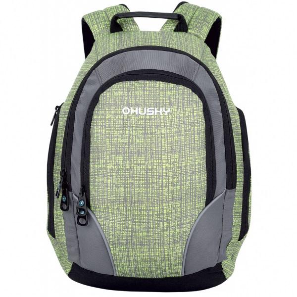 Рюкзак Husky Jelly 10, зелёныйОсобенности: эргономичная система задней стенки, утолщённые и дышащие эргономичные плечевые лямки, 1 основное отделение, передний карман, боковые карманы на молнии, органайзер, светоотражающие элементы<br><br>Вес кг: 0.50000000