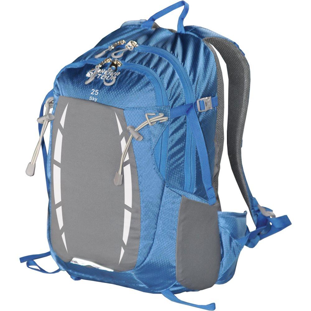 Рюкзак Nova Tour Скай 25 синий/серыйРюкзак для занятия спортом с удобным поясным ремнем и большим эластичным фронтальным карманом<br><br><br>два отделения<br><br>большой эластичный фронтальный карман<br><br>карман вдоль спинки для гидратора,документов/техники<br><br>органайзер<br><br>боковые эластичные карманы<br><br>удобный поясной ремень<br><br>Вес кг: 1.20000000