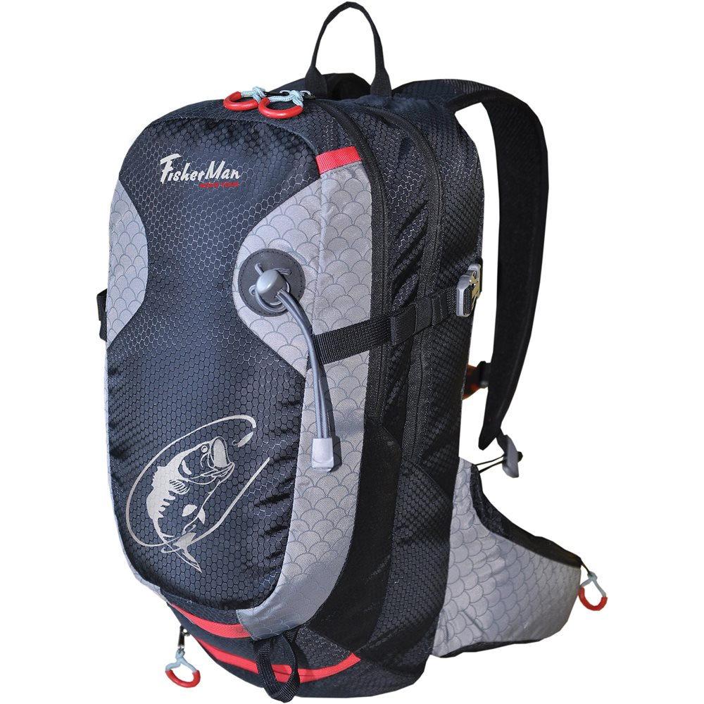 Рюкзак Nova Tour Дартер ProПрофессиональный рюкзак для спиннинговой ловли. Высокотехнологичный рюкзак для активной рыбалки. Внутри рюкзака несколько отделений для коробок с приманками, а также специальные карманы внутри и на поясе под необходимые мелочи. Спинка выполнена по технологии AIR MASH со сквозной вентиляцией, для комфортной эксплуатации даже в жаркую погоду.<br><br>Вес кг: 0.80000000