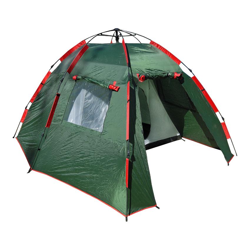 Палатка Talberg Garda 4Быстросборная семейная четырехместная кемпинговая полуавтоматическая палатка с большим и удобным спальным отделением и вместительным тамбуром. Автоматическая линия Talberg. Кемпинговые палатки Talberg Автоматической линии сочетают в себе все достоинства палаток Кемпинговой линии (большие тамбуры, в которых можно сидеть за столом и готовить пищу, высокие потолки, окна и т.д., словом, все, что позволяет чувствовать себя комфортно даже вдали от городских условий) и преимущества уникального быстросборного каркаса, благодаря которому палатка легко устанавливается за считанные минуты! Эти палатки идеально подходят для любителей отдыхать на природе всей семьей или просто большой компанией, но при этом не желающих долго разбираться со всеми нюансами установки палаток классической конструкции.<br><br><br>Надежный быстросборный каркас зонтичного типа из HQ FiberGlass позволяет полностью установить палатку всего за пару минут даже новичку, не требуя абсолютно никаких дополнительных знаний и навыков.<br><br>Использование высококачественного полиэстера делает тент палатки прочным, легким, непроницаемым для ветра и не впитывающим влагу.<br><br>Палатка оборудована высококачественной противомоскитной сеткой, способной защитить даже от самой мелкой мошки.<br><br>Благодаря вентиляционному окну сон в палатке будет максимально комфортным.<br><br>Внутри палатки имеются удобные карманы для мелочей.<br><br>Все швы палатки проклеены специальной термоусадочной лентой, которая надежно защищает палатку от протеканий.<br><br>Ремнабор в комплекте.<br><br>Вес кг: 7.70000000