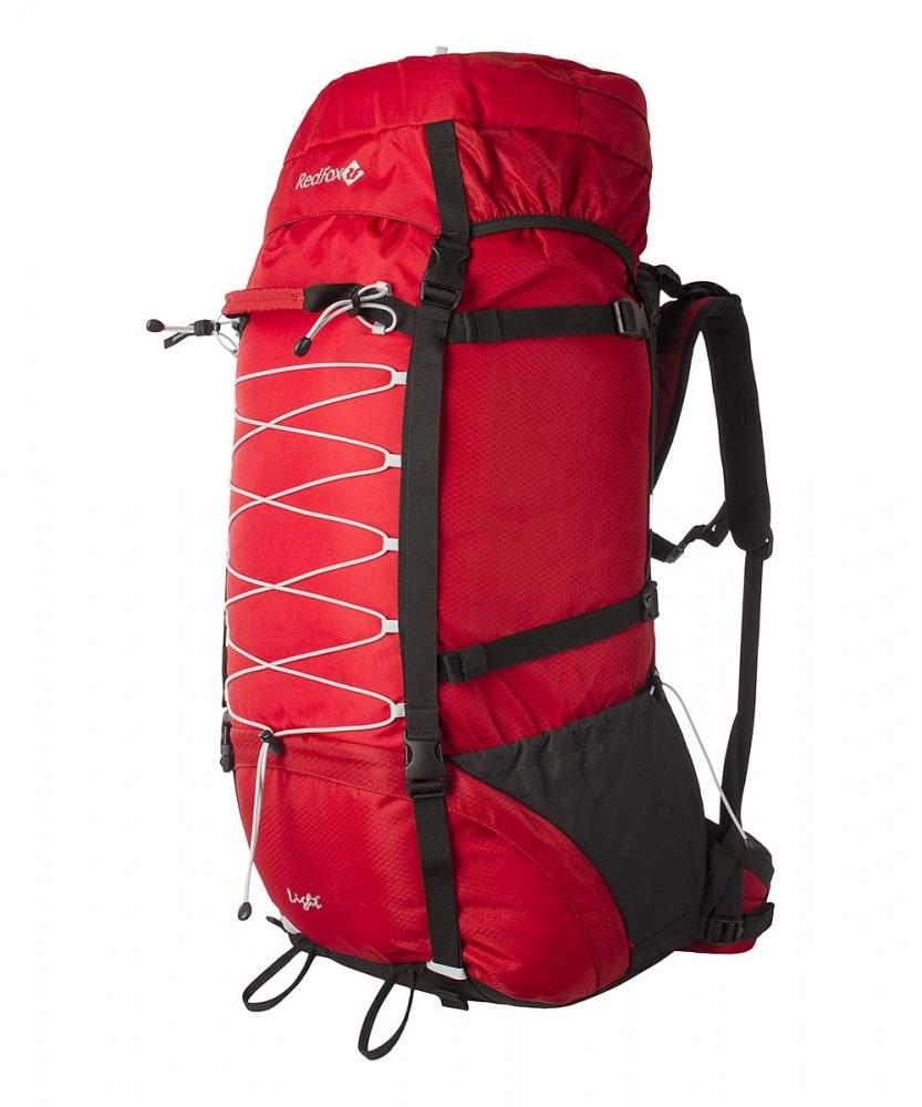 Рюкзак RedFox Light 120 red (red/black)Рюкзак Light 120 - классический походный рюкзак увеличенного объема.<br><br><br>подвесная система IBC<br><br>съемный поясной ремень анатомической формы<br><br>два независимых отделения<br><br>съемный клапан с карманом на молнии<br><br>боковые стяжки<br><br>крепления для ледового инструмента и трекинговых палок<br><br>дополнительная шнуровка на фронтальной панели рюкзака<br><br>два боковых кармана в нижней части рюкзака<br><br>Вес кг: 2.40000000