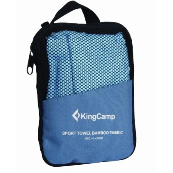 Полотенце KingCamp Bamboo towel 45х90 смПолотенце туристическое. Упаковывается в сумочку для переноски. Антибактериальная ткань, отлично впитывает влагу и быстро сохнет.<br>