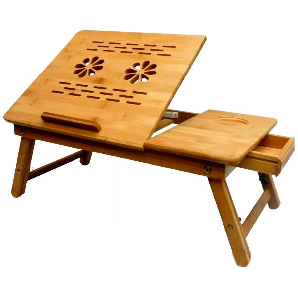 Столик для ноутбука Sititek Bamboo 2Красивый, легкий и прочный столик для ноутбука из экологически чистого материала — бамбука, весит всего 2,8 кг. Наши разработчики снабдили его отдельной подставкой для мышки, выдвижным ящичком для мелочей, продуманной системой охлаждения и большой столешницей, которую можно закрепить под разным углом. За ним очень удобно работать и не только — также можете использовать его, как столик для завтрака, подставку для чтения книг и т.п.<br><br>Изготовлен из бамбука, что делает его стильным дополнением к любому интерьеру и экологичным, позволяя использовать в качестве подставки для завтрака.<br>Регулируемые по высоте ножки позволяют с удобством пользоваться ноутбуком людям с различным ростом и в различной позе.<br>Регулируемая по наклону столешница обеспечит комфорт в работе за ноутбуком даже лёжа, а также послужит подставкой для книг.<br>Углубление для чашки снижает вероятность того, что чашка с напитком соскользнет со столика.<br>Выдвижной ящичек для надежного хранения мелочей и принадлежностей.<br>Два встроенных вентилятора в столешнице предотвратят перегрев ноутбука при длительной и интенсивной работе.<br>Компактные размеры в сложенном виде обеспечат удобство переноски и хранения столика.<br><br>Вес кг: 2.90000000