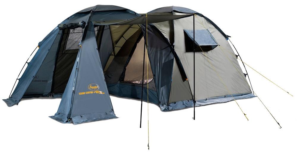 """Палатка Canadian Camper GRAND CANYON 4 Forest кемпинговаяGRAND CANYON - кемпинговая палатка с высокой ветроустойчивостью. Просторный тамбур-прихожая с тремя входами, двери которых имеют антимоскитные сетки повсей площади. Дверь тамбура также можно использовать как дополнительный козырек над входом. Два входа в высокое и просторное спальное отделение. В жаркую погоду Вы можете открыть не только двери тамбура (оставив или нет антимоскитные сетки в их проемах), но и дополнительную дверь, расположенную в торце палатки.<br><br>Верхнее вентиляционное окно тамбура и два боковых вентиляционных окна спального отделения обеспечат прохладу в жаркий день. Для предотвращения проникновения насекомых у палатки есть """"юбка"""" по всему периметру. Возможно использование тента без спального отделения. Палатка выпускается в двух цветовых решениях - ROYAL и WOODLAND. Не комплектуется полом для тамбура.<br><br>Вес кг: 11.30000000"""
